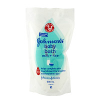 Johnson's Baby Bath Milk + Rice Refill 600mL