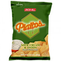 Piattos Sour Cream & Onion Flavored Chips 85g